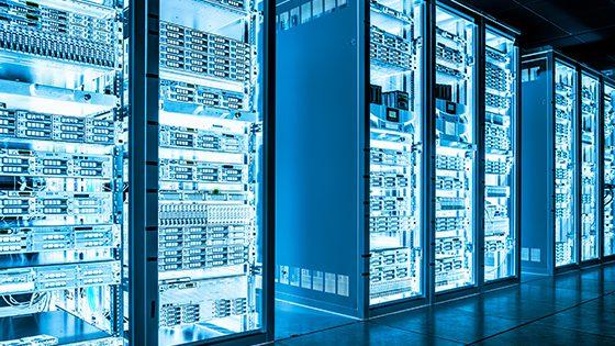 immagine di servers azzurra